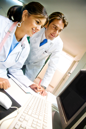 Physicians accessing online communication