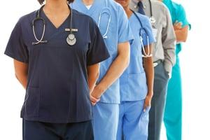 group of hospital staff