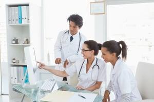 medical staff using intranet