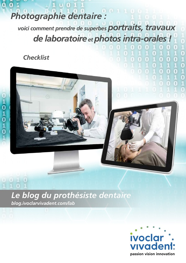 Photographie dentaire : portraits, travaux de laboratoire et photos intra-orales