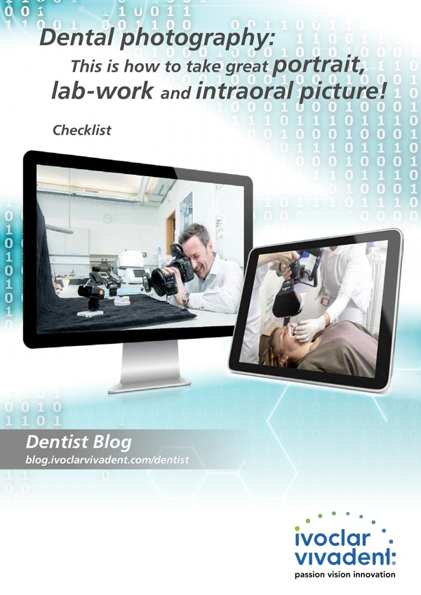 Dental photography: portrait, lab-work and intraoral picture