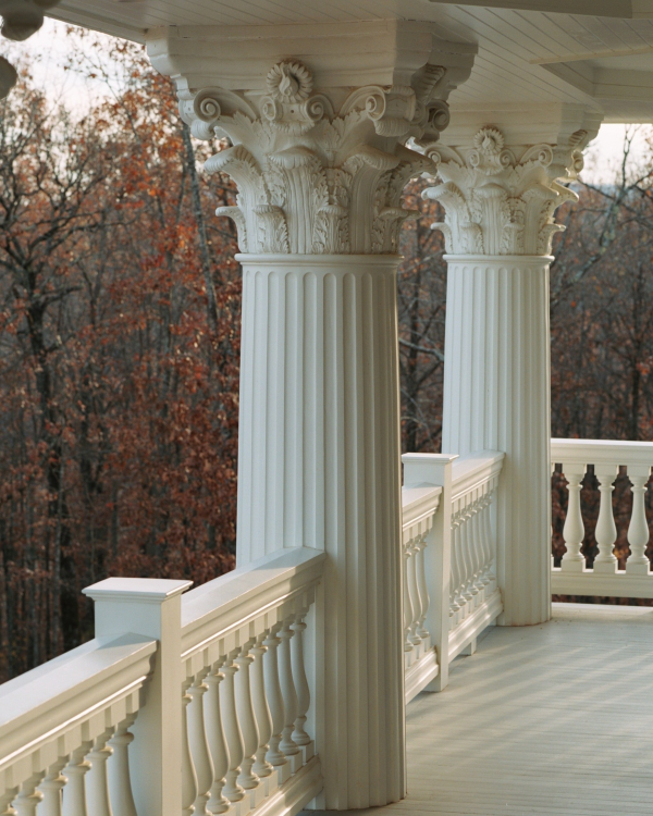 5 steps how to install balustrade systems up to round for Round porch columns