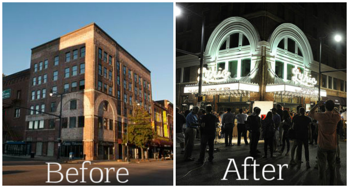 Lyric Theatre Before and After