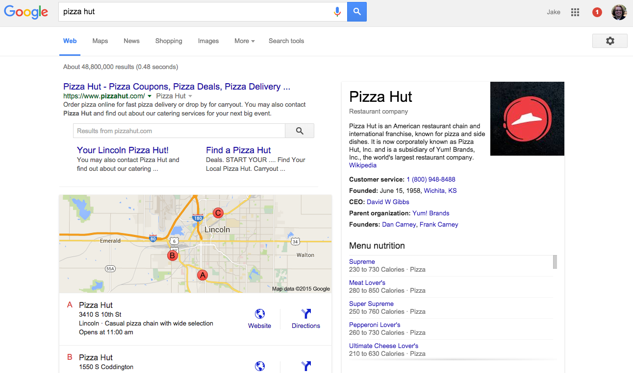 how to get your company name on google search
