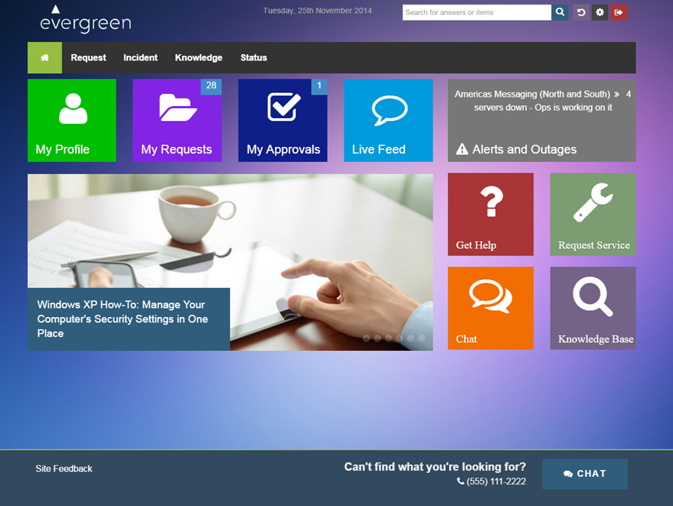 Employee Self Service Portal amp Catalog Evergreen Systems