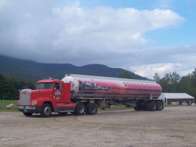 Dennis K Burke fuel tanker at Mount Washington
