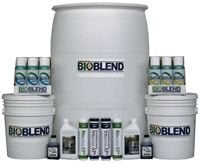 Various sized containers of Bioblend