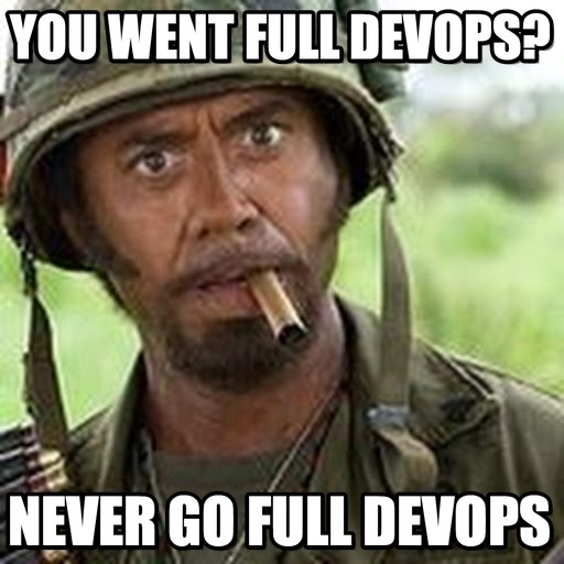 DevOps meme - you went full DevOps