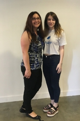 Heather Howe, Associate Director of Human Resources at  Visual IQ  with her Namely Support Consultant Erin Rittweger