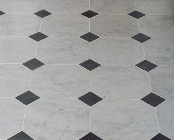 Black And White Marble Floors Create The Look