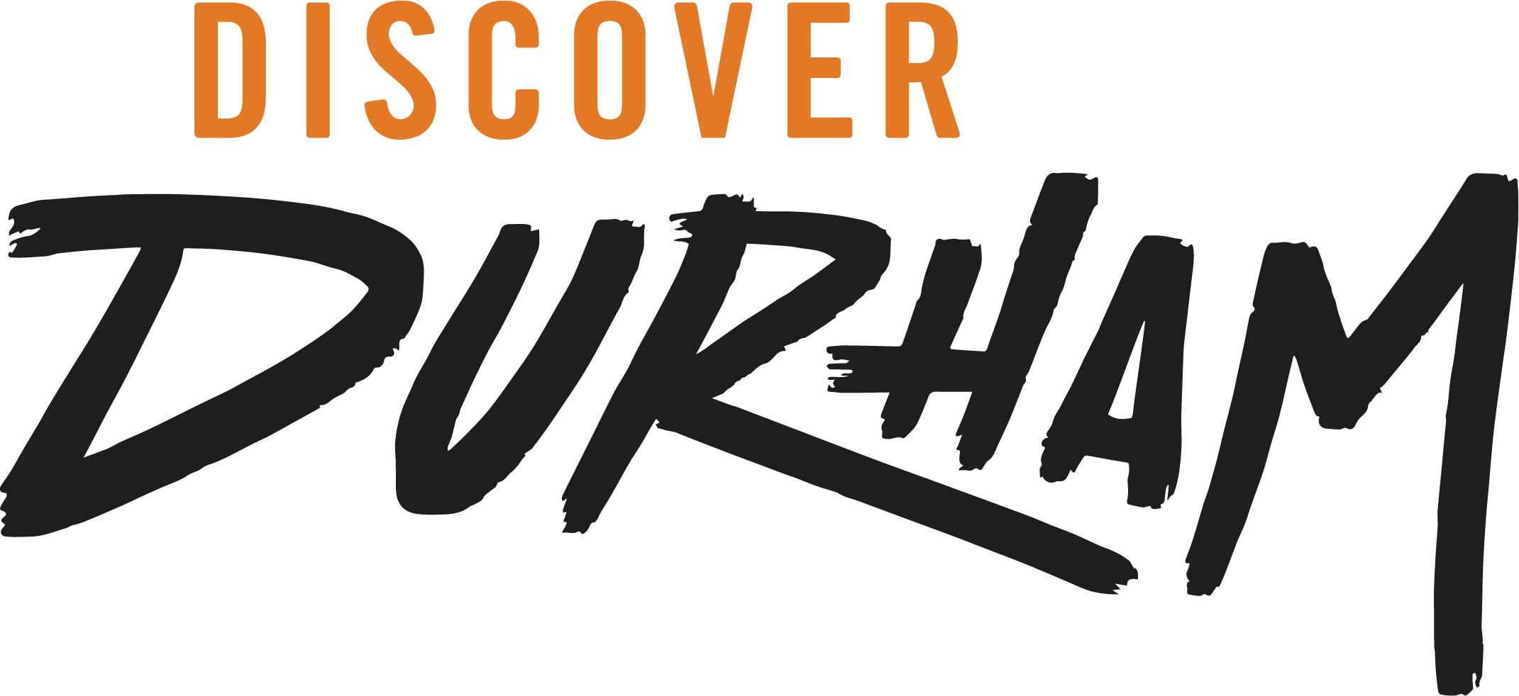 Discover-Durham-Dark-Logo-Light Orange