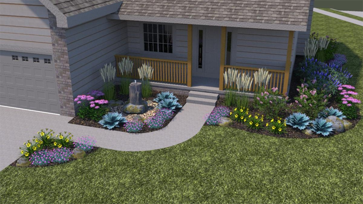 Cm 39 s custom lawn landscape photo gallery for Exterior front yard landscaping ideas