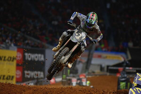 Justin Barcia Atlanta Supercross - Credit Monster Energy Yamaha Factory Racing