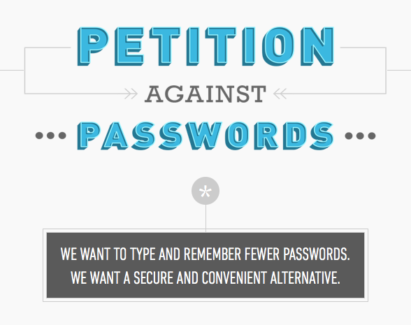 Strong and simple two factor authentication vs traditional usernames and passwords, let battle commence.