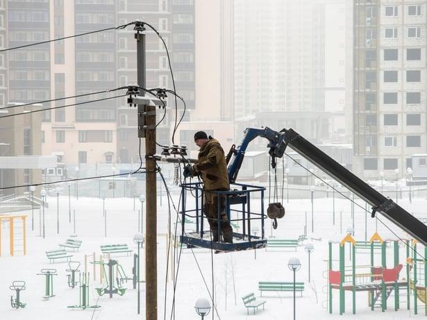Utility Winter Worker
