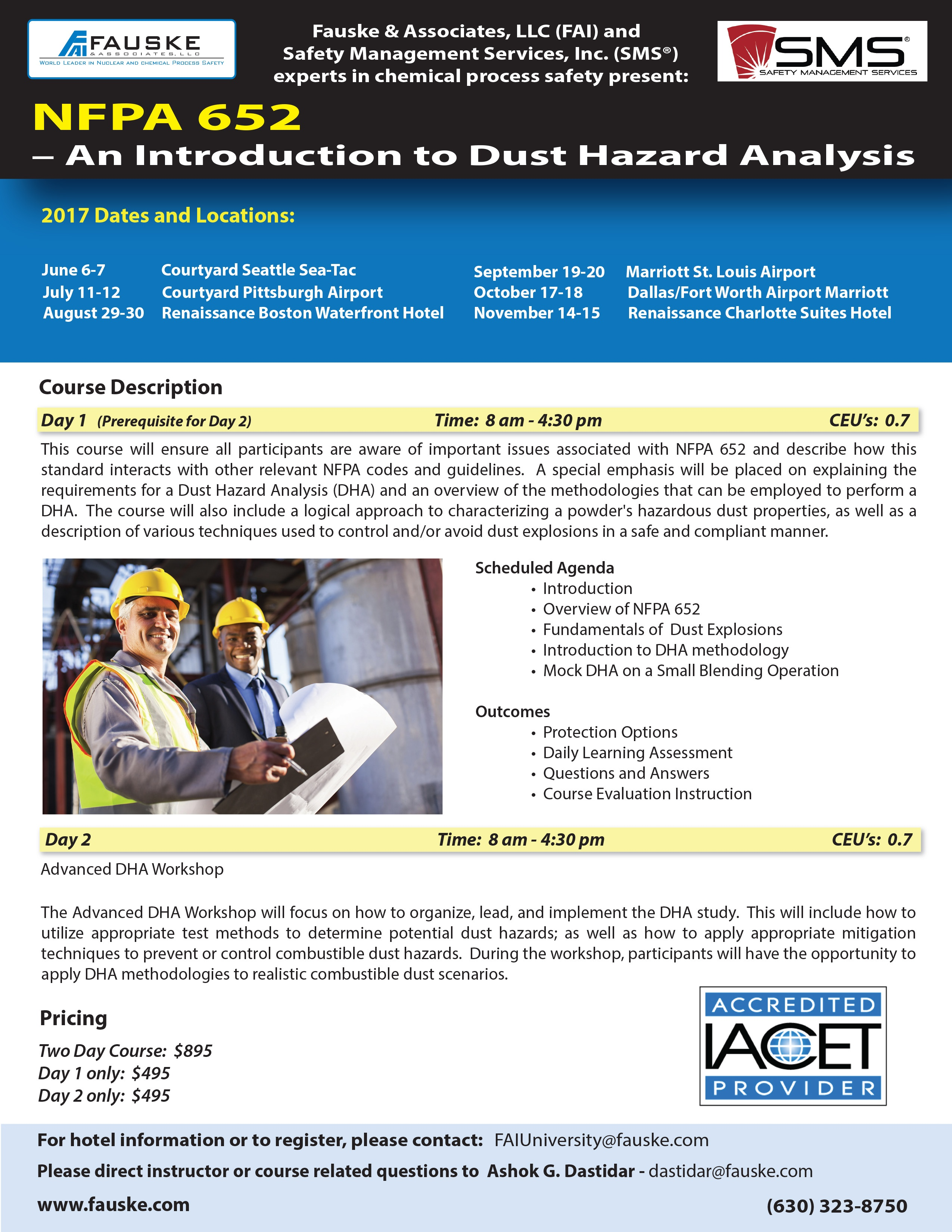 2017 NFPA 652 Combustible Dust Courses