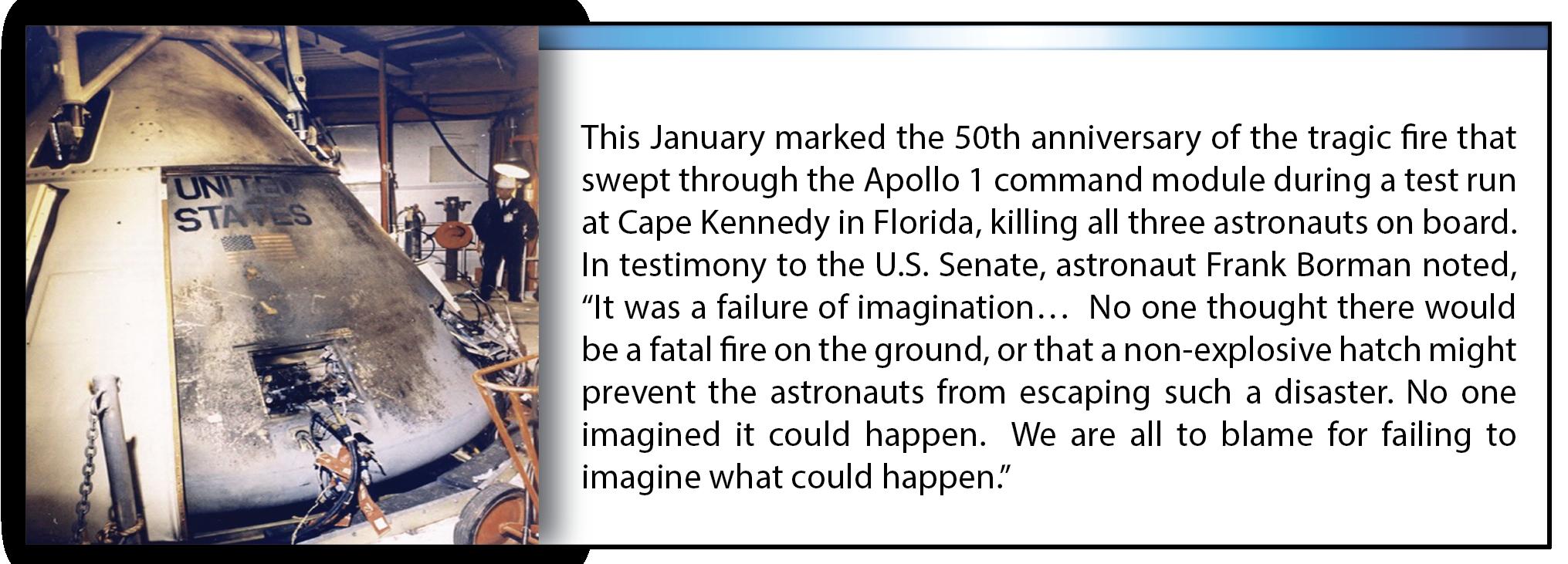 Figure 1a. – NASA Apollo 1 Ground Fire[3]