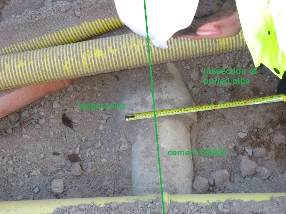 Buried cable inspection, spigot joint and cement type