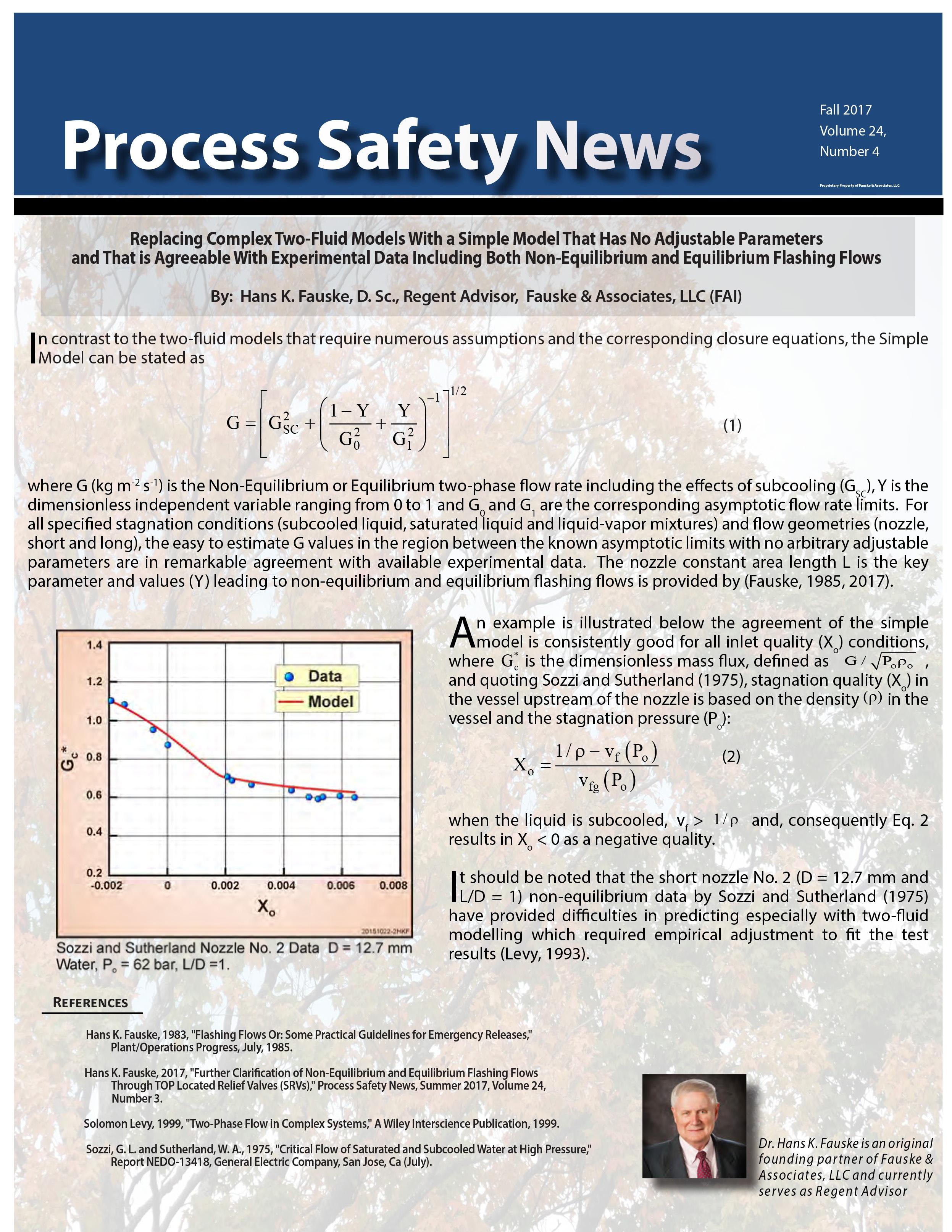 FAI Fall 2017 Process Safety News