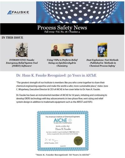 Fall 2019 Process Safety News
