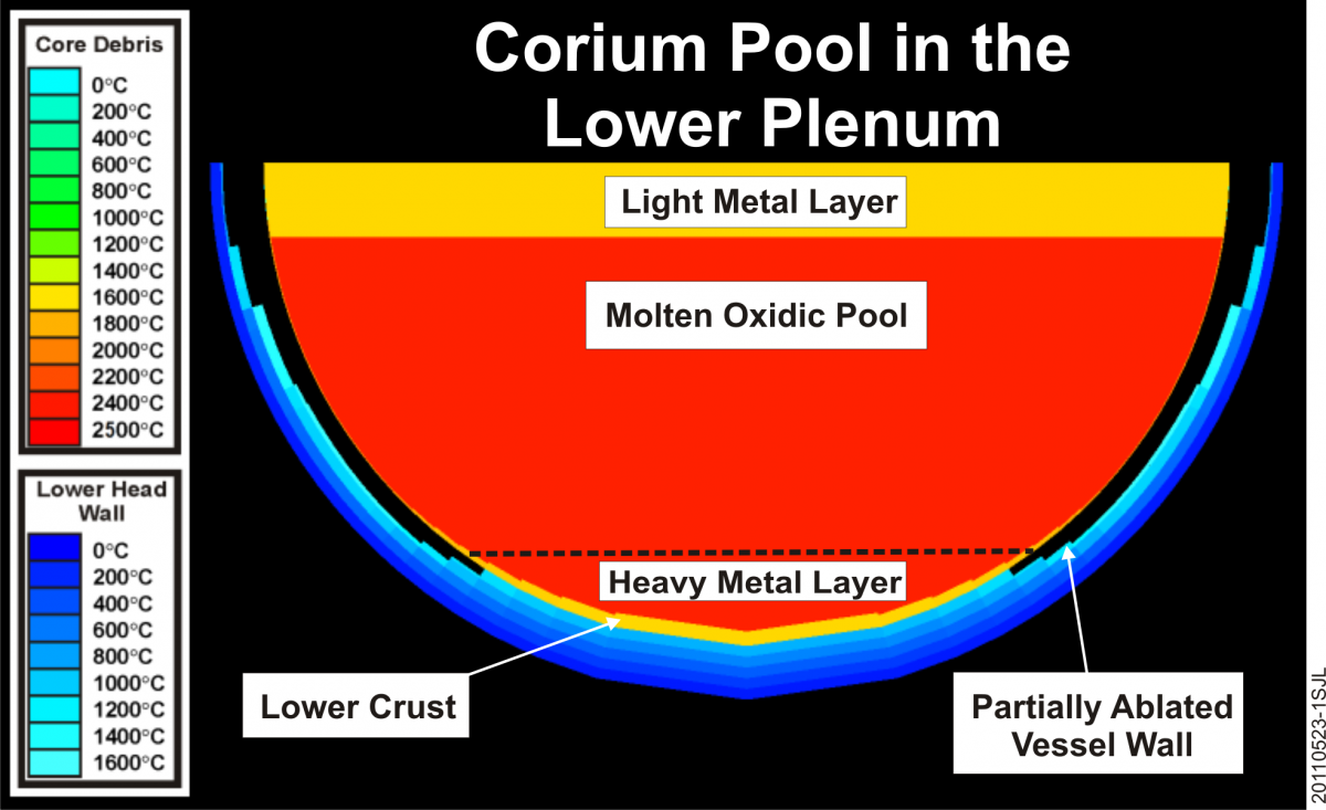 Corium Pool Modeling in the Lower Plenum and MAAP Services