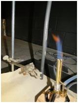 Flame Hut VW-1Testing