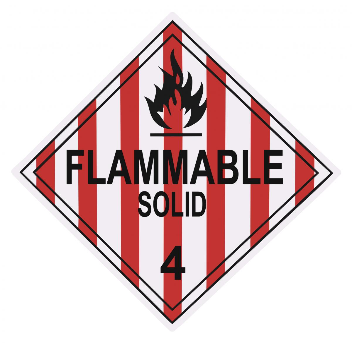 Flammabile Solids Sign