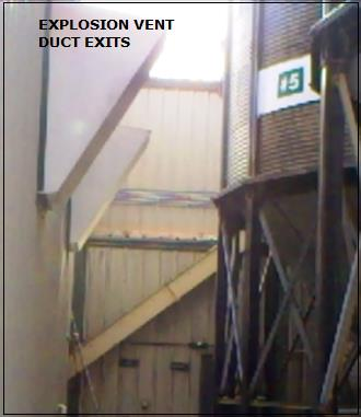 Figure 2. Vent exits near outside silos