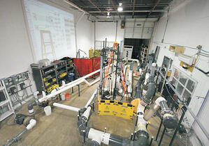 Full scale industrial testing services of containment spray system conducted in one of FAI's laboratories