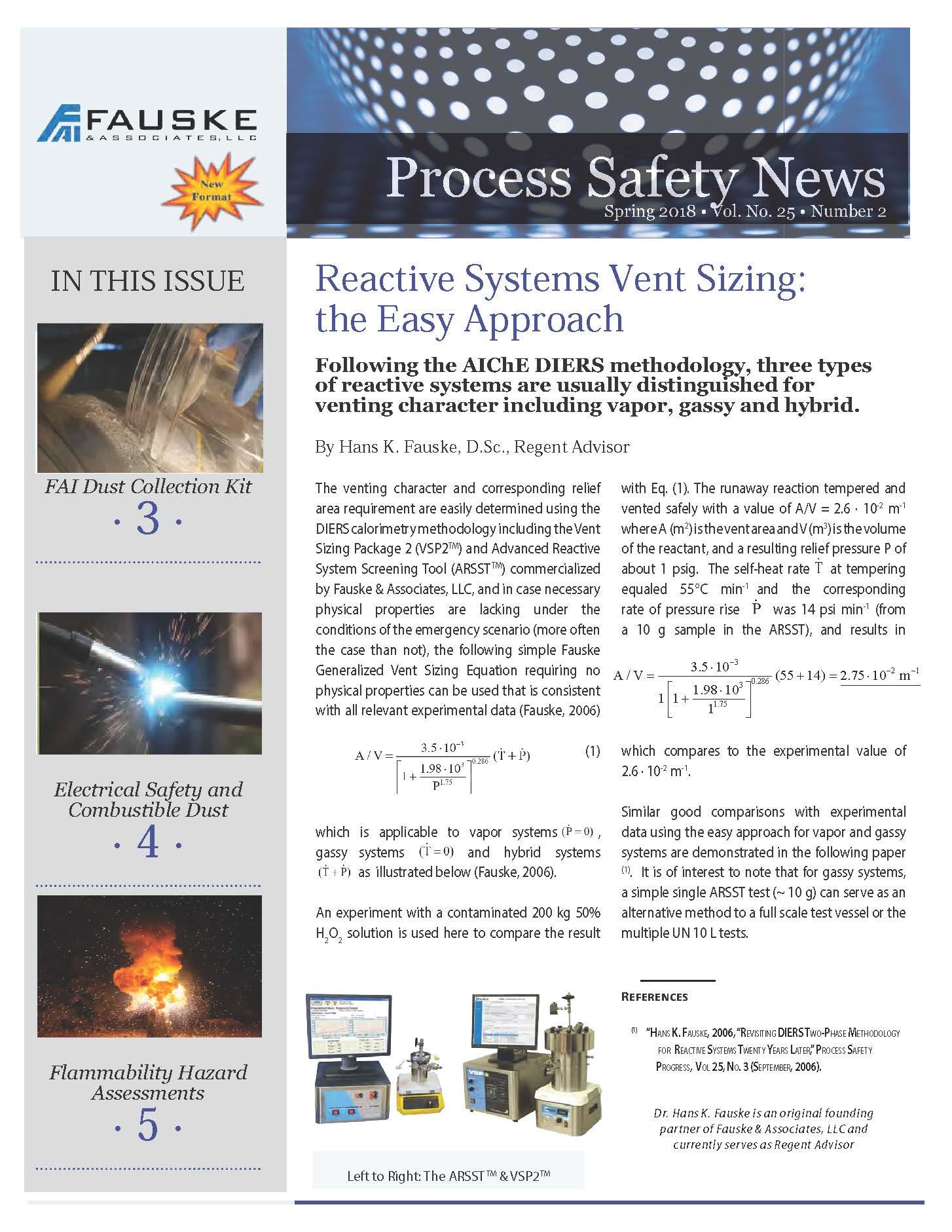 Spring 2018 Process Safety Newsletter