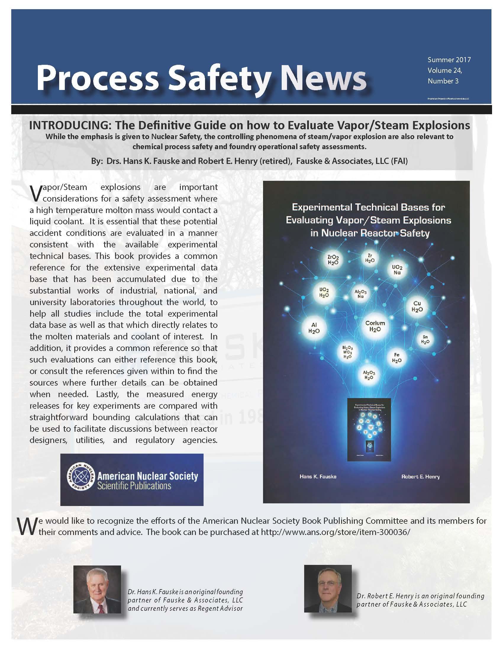 Summer 2017 Process Safety News