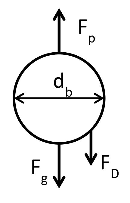 Figure 3 Schematic of Bubble Force Balance