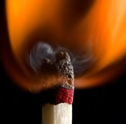 Flame in flammability hazard