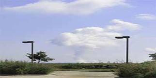 Nuclear plant steam plume