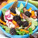 Sweet Potato and Turkey Lunch Salad with Maple Blackberry