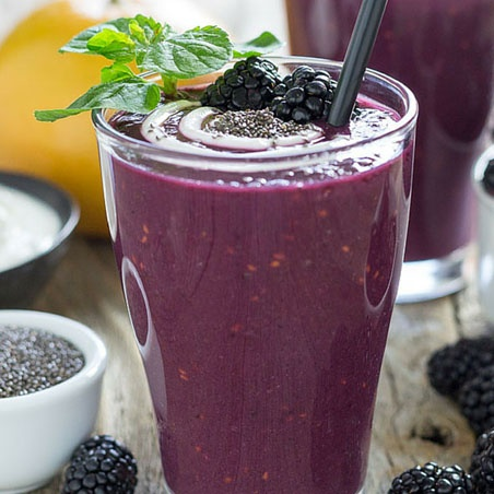 Blackberry Grapefruit Smoothie