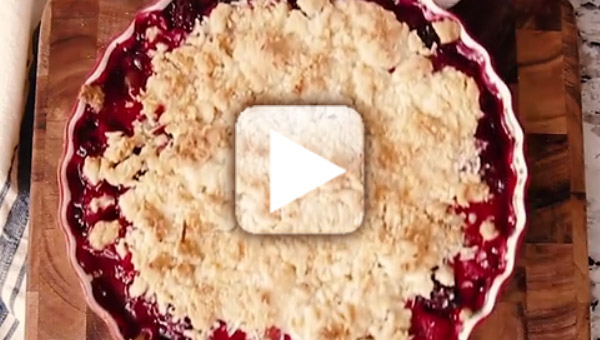Blackberry and Raspberry Cobbler How To Video