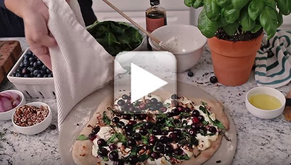 Blueberry Goat Cheese Pizza How To Video