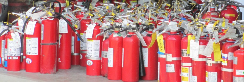 inspected and tagged extinguishers