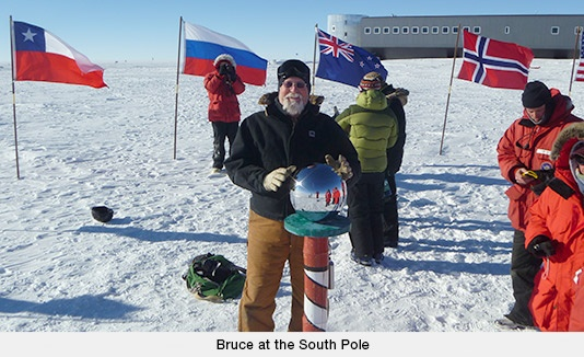 Bruce at the South Pole