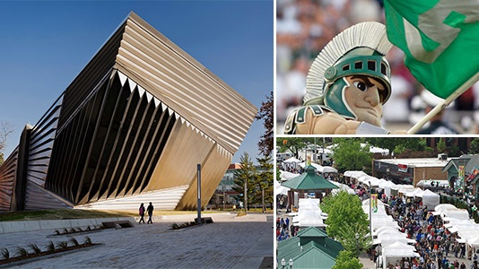 Eli & Edythe Broad Art Museum, Michigan State Athletics, East Lansing Art Festival