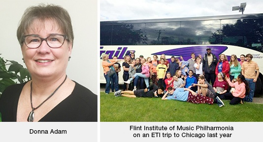 Donna Adam / Flint Institute of Music Philharmonia on an ETI Trip to Chicago Last Year