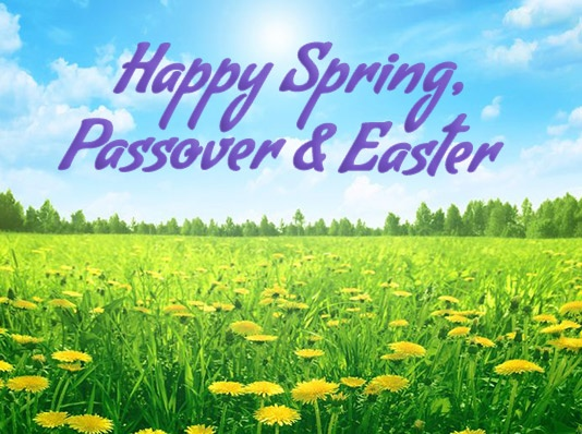 Happy Spring, Passover & Easter