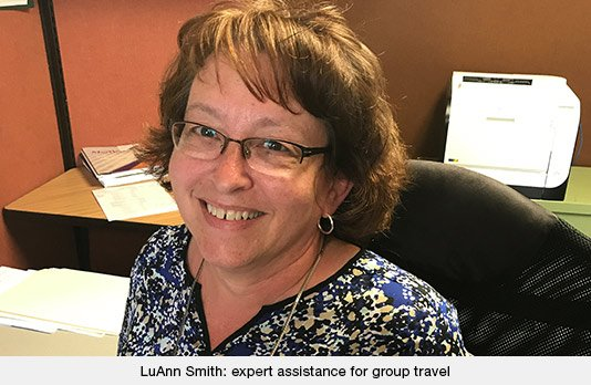 LuAnn Smith: expert assistance for group travel