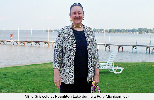 Millie Griswold at Houghton Lake