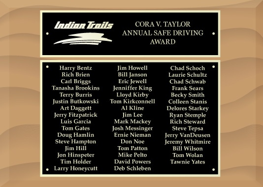 Cora V. Taylor Annual Safe Driving Award