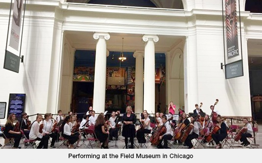 Performing at the Field Museum in Chicago