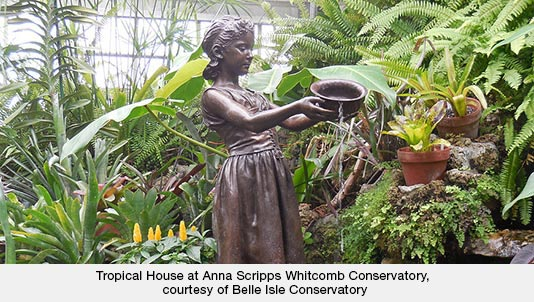 Tropical House at Anna Scripps Whitcomb Conservatory, courtesy of Belle Isle Conservatory
