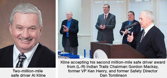 Two-million-mile safe driver Al Kline