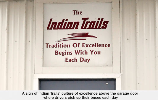 Indian Trails Culture of Excellence Sign